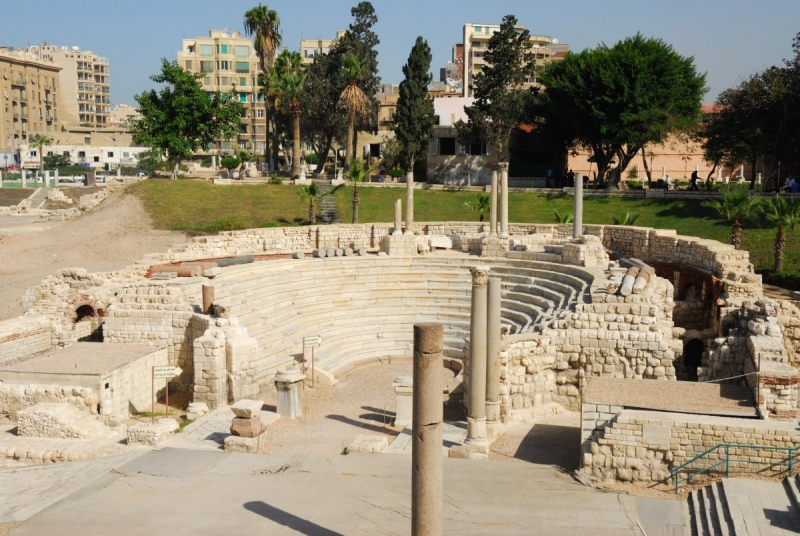 The Roman amphitheatre of Alexandria